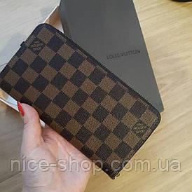 Кошелек Louis Vuitton коричневый в клетку в коробке