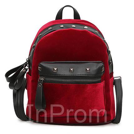 Рюкзак Jesse Velor Red, фото 2