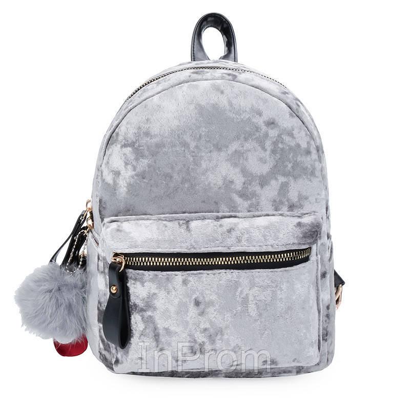 Рюкзак Amelie Velor Gray