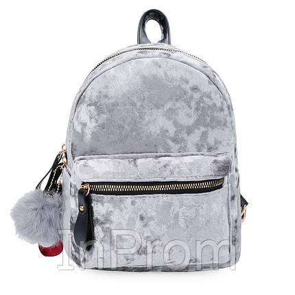 Рюкзак Amelie Velor Gray, фото 2