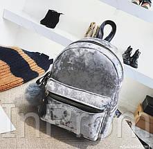 Рюкзак Amelie Velor Gray, фото 3
