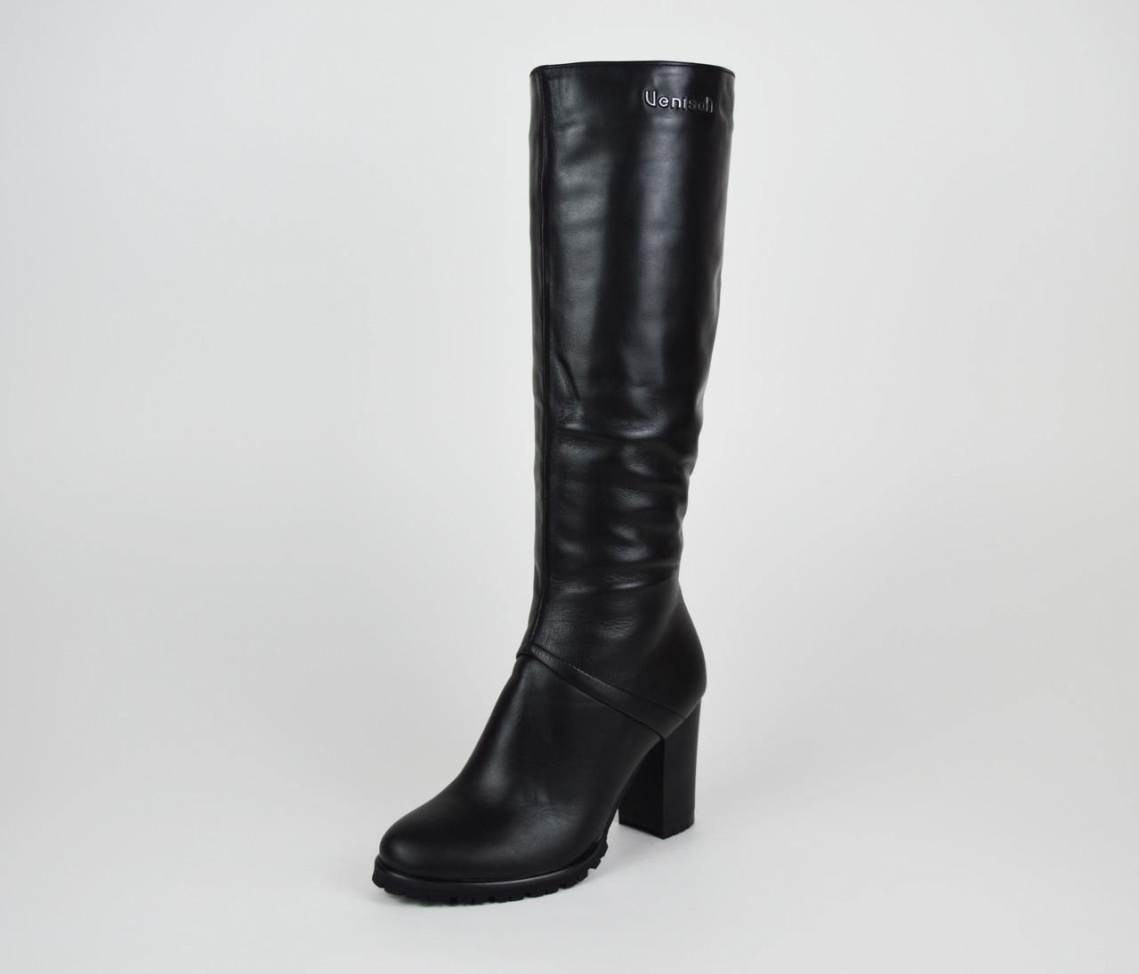 Кожаные сапоги на каблуке Venison Жардин