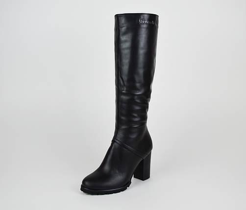 Кожаные сапоги на каблуке Venison Жардин, фото 2