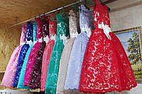 Красивое праздничное кружевное детское платье 5-6 лет.