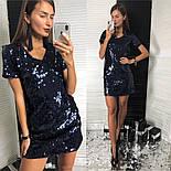 Женское красивое праздничное платье с пайетками (2 цвета), фото 4