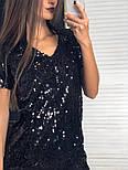Женское красивое праздничное платье с пайетками (2 цвета), фото 2