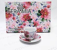 """Чайный сервиз Keramia 24-198-068 """"Шиповник"""", фото 1"""