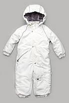 Детский зимний цельный комбинезон Арктика из мембранной ткани. Размеры 80, 86, 92 (1-3 года). Белый