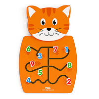 Игрушка настенная бизиборд Viga Toys Кот с цифрами (50676)