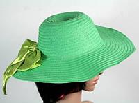 Соломенная шляпа Инегал 40 см зеленая