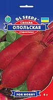 Свекла столовая Опольская превосходная среднеспелая урожайная мякоть без колец нежная сочная, упаковка 4 г