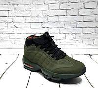 Мужские кроссовки Nike Tn Air зеленые/хаки и черные 0161НИМ