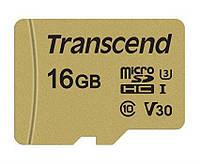 Картка пам'яті Transcend 16GB microSDHC C10 UHS-I U3 R95/W50MB/s + SD адаптер