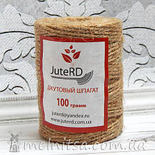 Мотузка, джут 2 мм (100 грам)
