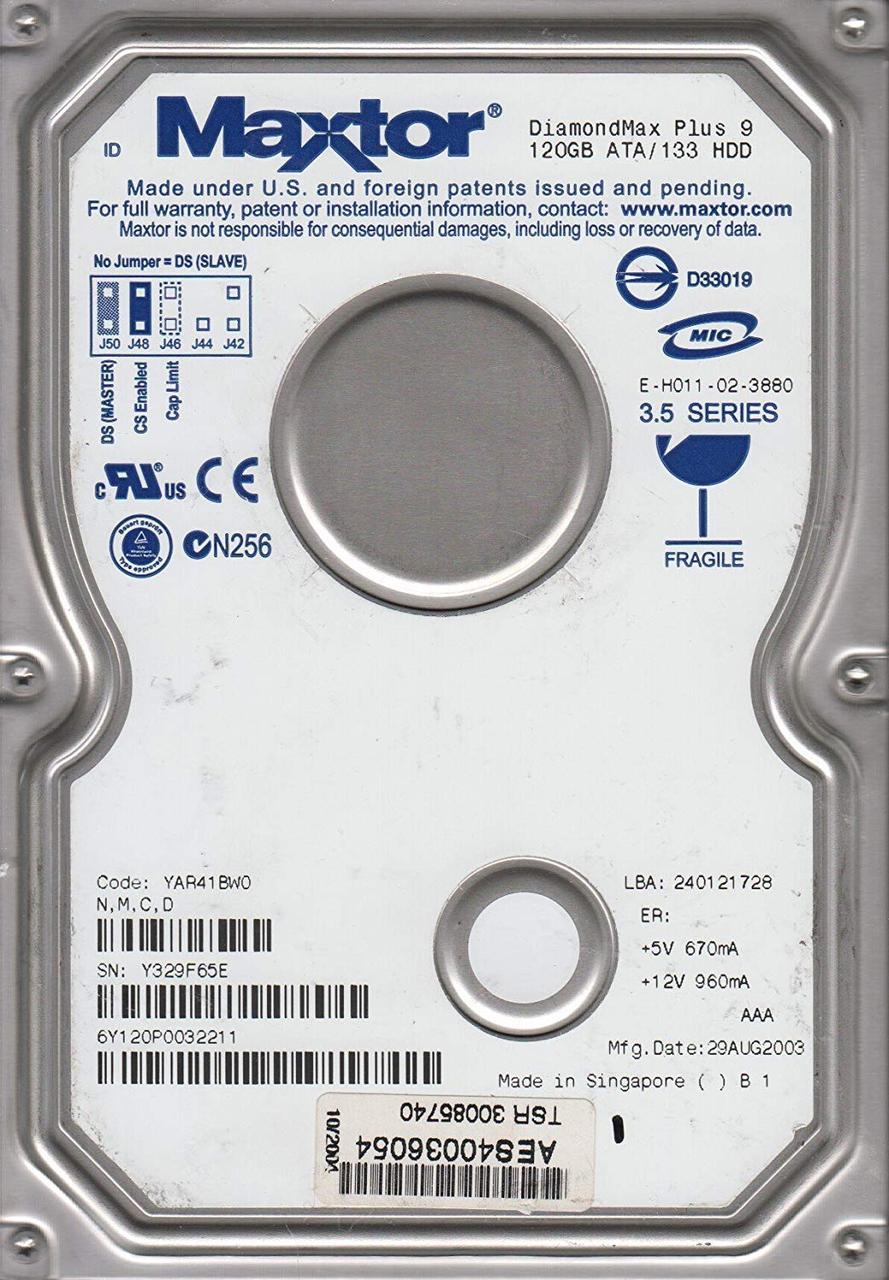 "Жесткий диск Maxtor DiamondMax Plus 9 120GB 7200rpm (6Y120P0) 3.5"" IDE"
