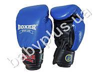 Перчатки боксерские Profi 12oz (кожа) синие