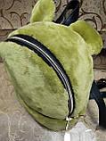 Новый Женский рюкзак искусств кожа с Мех качество городской спортивный стильный (только ОПТ), фото 2