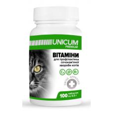 Витамины UNICUM premium для котов для профилактики мочекаменной болезни