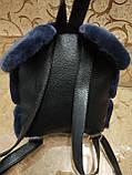 Новый Женский рюкзак искусств кожа с Мех качество городской спортивный стильный (только ОПТ), фото 5