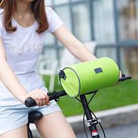 Велосумка для велосипеда с отсеком для телефона водостойкая (зеленая)