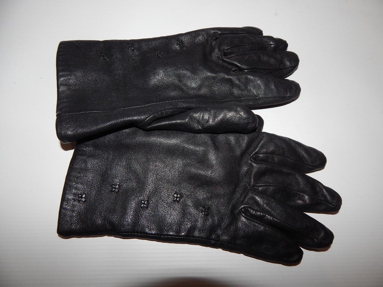 Перчатки женские кожаные теплые р.М-L (7) 086PGZ