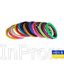 Набор пластика ABS для 3D ручек 80 метров (16 цветов по 5 метров)