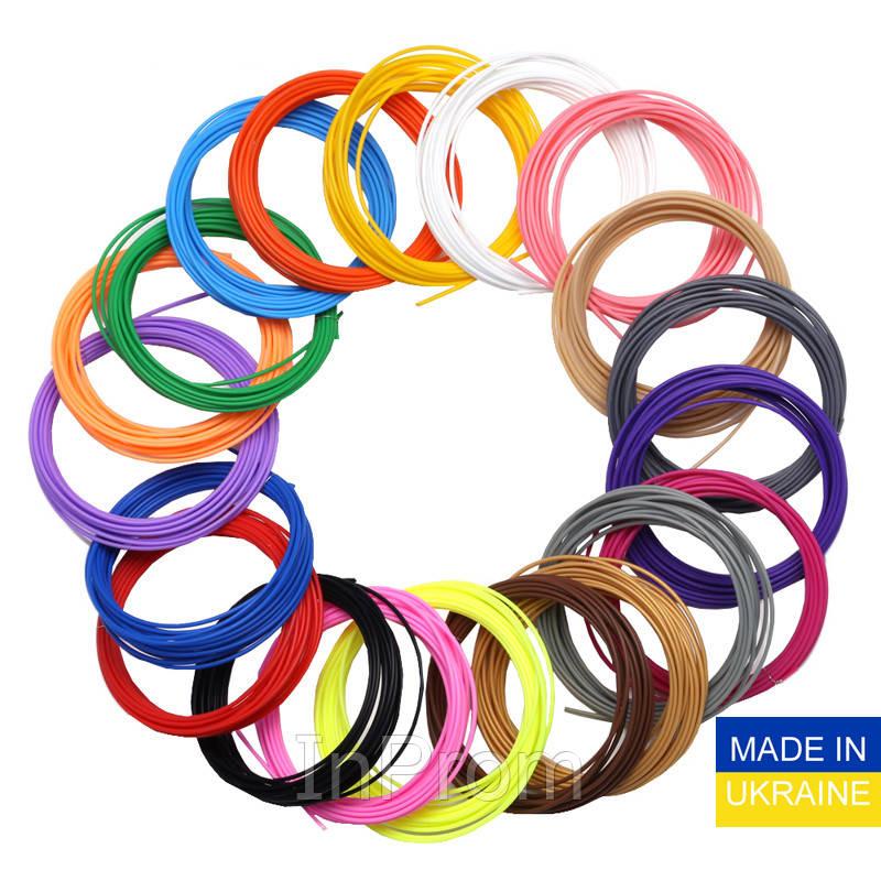 Набор пластика ABS для 3D ручек 480 метров (16 цветов по 30 метров)