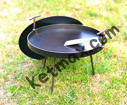 Сковорода с крышкой 40 см в диаметре с крышкой, фото 2