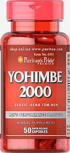 Йохимбин Puritan's Pride Yohimbe 2000 mg 50 capsules