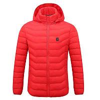 Женская куртка с инфракрасным подогревом от powerbank, Celsius° Красная S