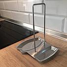 Кухонная подставка для крышки и лопатки из нержавейки, фото 3