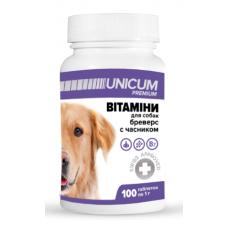 Витамины UNICUM premium бреверс с чесноком для собак
