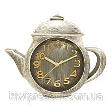 """Настенные часы """"Чайник"""" (бронза, золото, коричневый, белый), фото 2"""