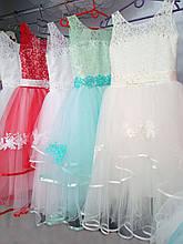 Праздничное детское нежное бальное платье на 9-10 лет