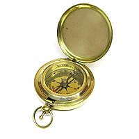 Компас бронзовый карманный с крышкой 4,5х4,5х1,5см (28234A)