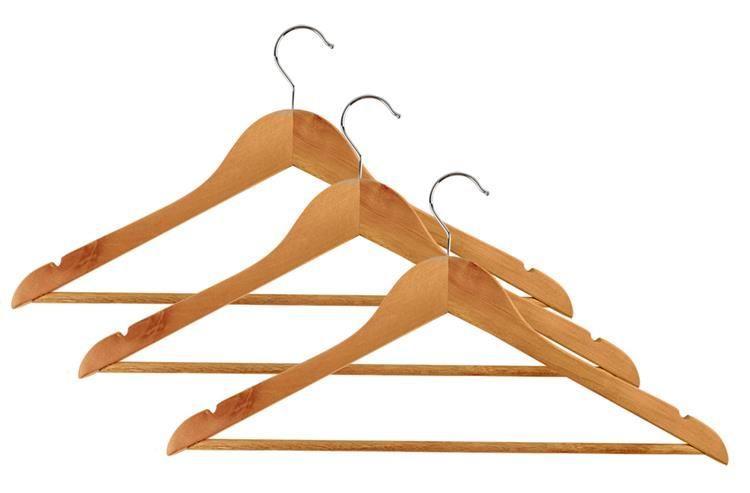 Вішаки, плечики дерев'яні для одягу, набір 3 шт.