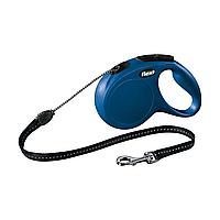 Поводок-рулетка Flexi с тросом New Classic M 8 м / 20 кг, синяя