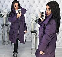 faeecb8159c Женская куртка из плотной плащевки Канада на кнопках с капюшоном синтепон  200 42-44