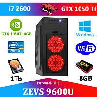 Игровой Монстр ПК ZEVS PC 9600U i7 2600 + GTX 1050TI 4GB +Клавиатура +Мышка!