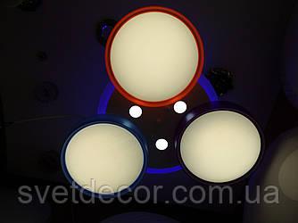 Люстра светодиодная потолочная В 001/А Dimmer с пультом для детской комнаты
