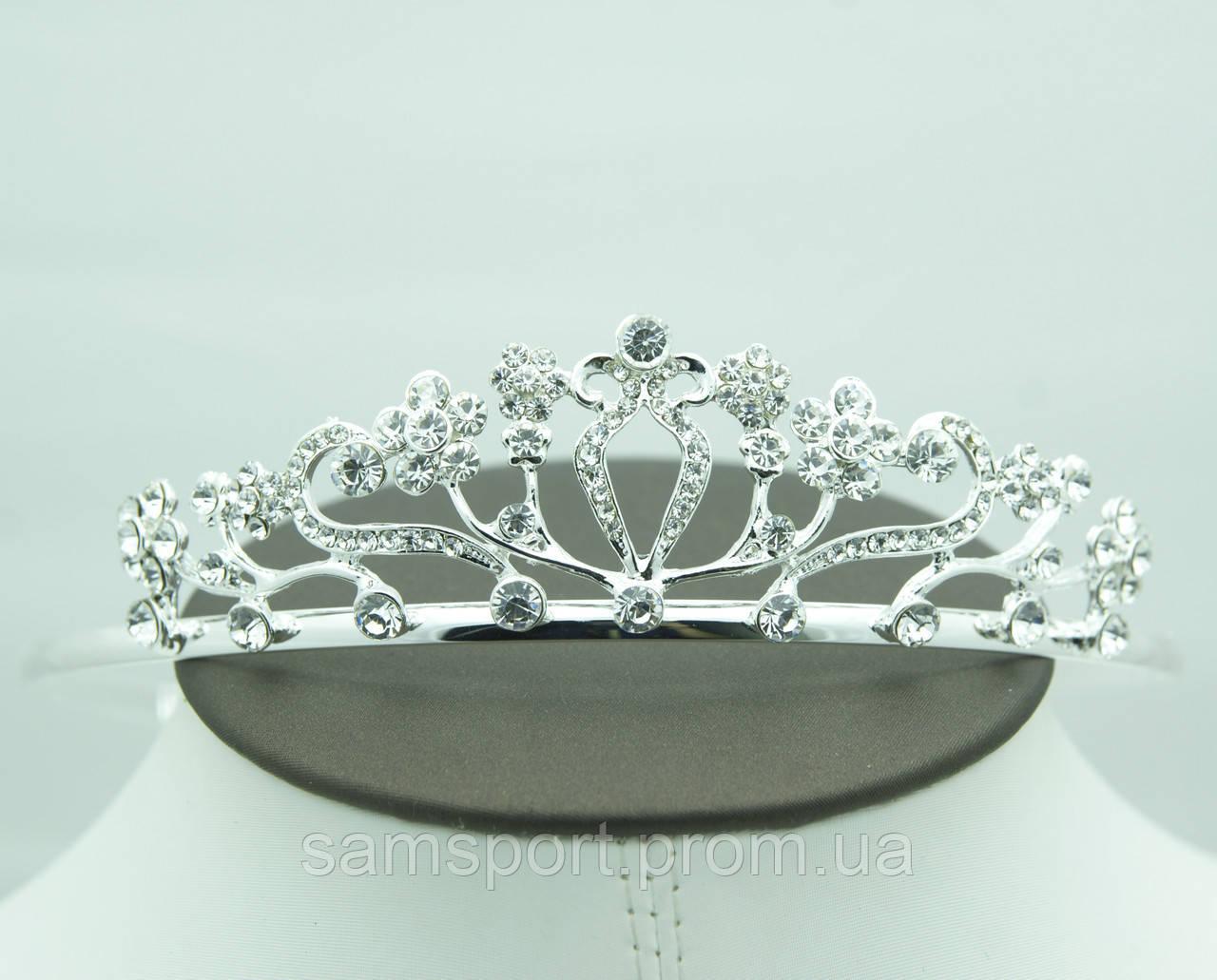 Фигурные диадемы с кристаллами для невест. Королевские украшения от Бижутерии оптом RRR. 48