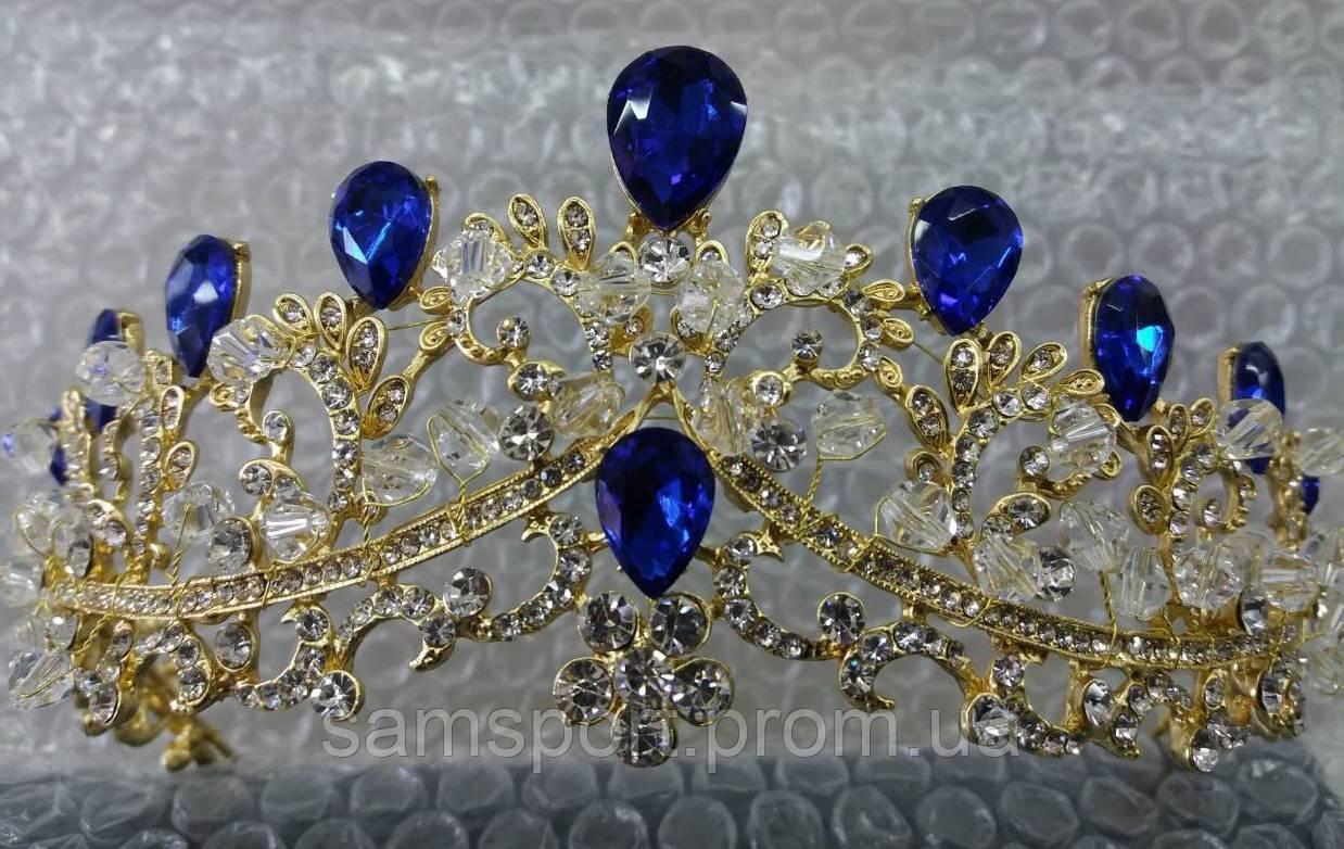 Свадебные высокие короны. Необычная корона из стекляруса 161