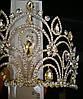 Эксклюзивные свадебные короны. Необычная высокая корона 10 см из страз и кристаллов 166, фото 2