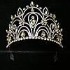 Эксклюзивные свадебные короны. Необычная высокая корона 10 см из страз и кристаллов 166, фото 6