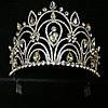 Эксклюзивные свадебные короны. Необычная высокая корона 10 см из страз и кристаллов 166, фото 8