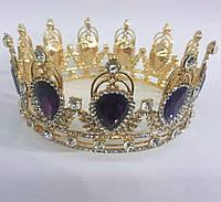 201 Модные свадебные короны. Золотые диадемы оптом в Украине.