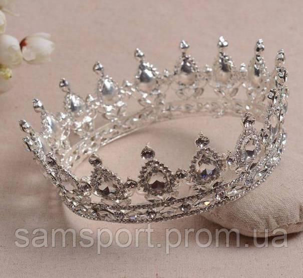 206 Короны и диадемы с кристаллами. Свадебные аксессуары оптом в Украине.