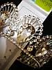 Оригинальная круглая свадебная корона. Необычная корона с белыми кристаллами 217, фото 7
