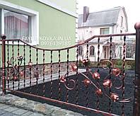 Кованый забор, кованые цветы 1212