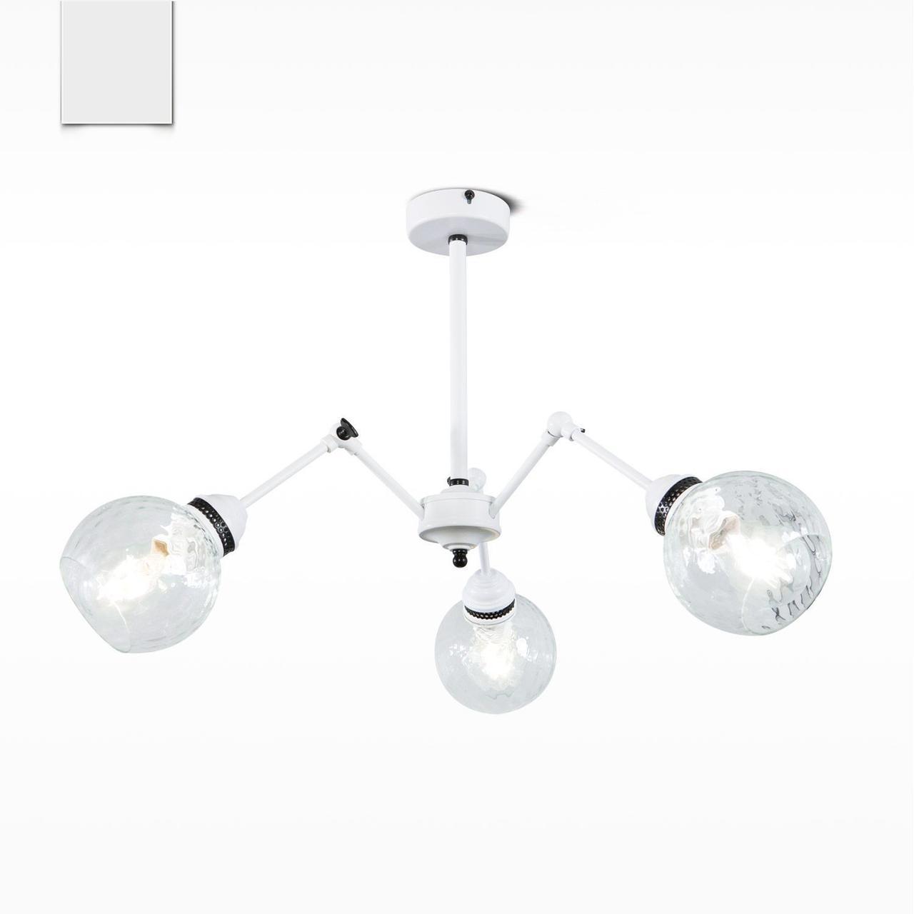 Люстра трансформер металлическая со стеклянными шарами в стиле лофт на кухню, в коридор 20333